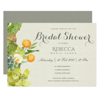 SUCCULENT CACTUS FLORAL GARDEN Bridal Shower Card