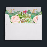 """Succulent Cactus Floral &amp; Return Address for 5x7 Envelope<br><div class=""""desc"""">Create your own Envelopes for 5x7 cards with this &quot;Rustic Succulent Cactus Floral Themed Envelope template&quot;. You can customize it with your return address on the flap. This envelope design is perfect to match your wedding invitations. (1) For further customization, please click the &quot;customize further&quot; link and use our design...</div>"""
