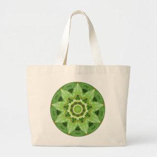 Succulent Cactus Star Fractal Large Tote Bag