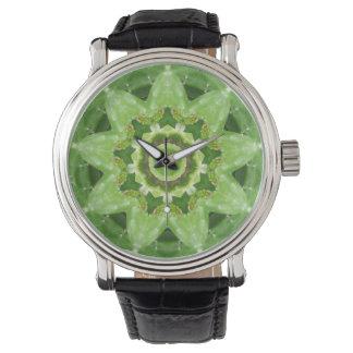 Succulent Cactus Star Fractal Wrist Watch