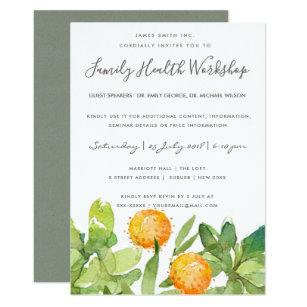 Seminar invitations zazzle succulent cactus watercolor seminar workshop event invitation thecheapjerseys Images