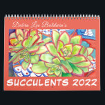 """Succulent Calendar 2022 by Debra Lee Baldwin<br><div class=""""desc"""">This succulent plant watercolor calendar is by renowned artist and garden photojournalist Debra Lee Baldwin. Debra, whose YouTube channel has had over 6, 500, 000 views, is credited with launching worldwide interest in succulents. She authored three bestselling books about using succulents in gardens, landscapes and containers. To share her original...</div>"""