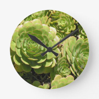 Succulent Round Wall Clock