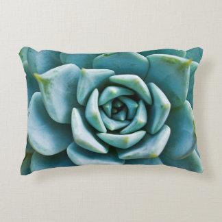 Succulent Closeup Accent Pillow