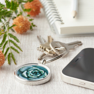 Succulent Closeup Keychain