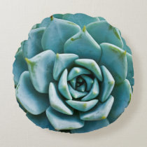 Succulent Closeup Round Pillow