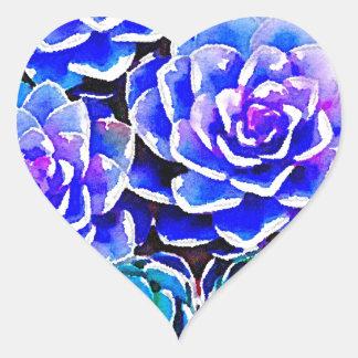 Succulent Colors Heart Sticker