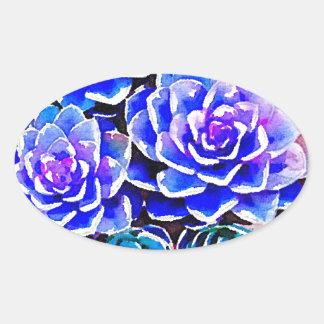 Succulent Colors Oval Sticker