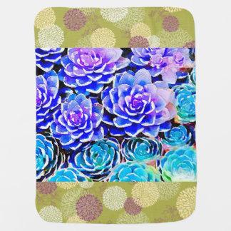 Succulent Colors Receiving Blanket