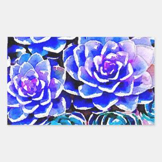 Succulent Colors Rectangular Stickers