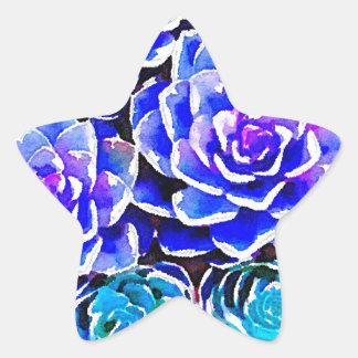 Succulent Colors Star Sticker