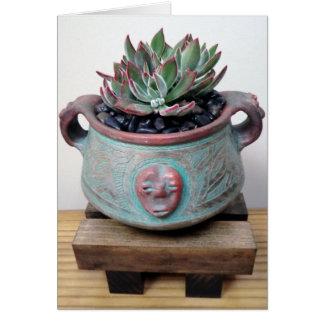 Succulent en pote por la planta perfecta tarjeta pequeña