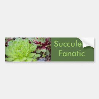 Succulent Fanatic Bumper Sticker Car Bumper Sticker