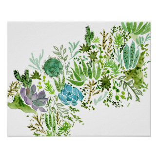 Succulent Field I Poster