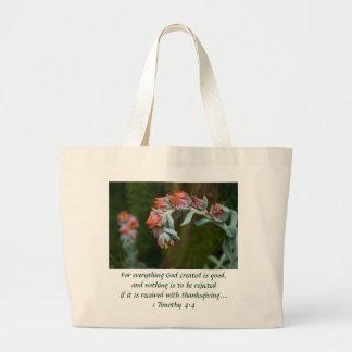 Succulent floreciente bolsa
