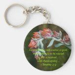 Succulent floreciente llavero personalizado