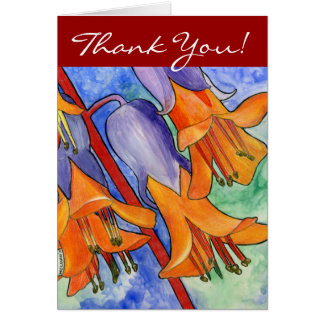 Succulent Flowers Thank You Card