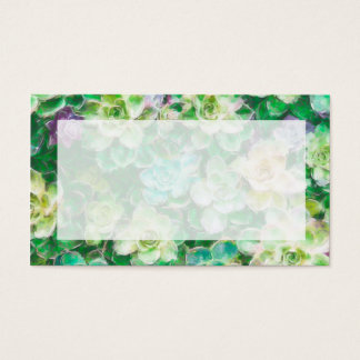 Succulent Garden by Cindy Bendel Business Card