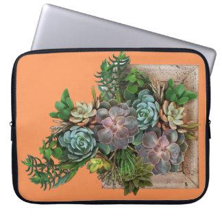 Succulent garden design laptop sleeve