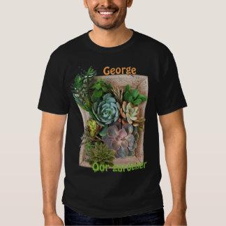 Succulent garden design tee shirt