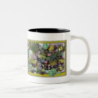 Succulent garden design Two-Tone coffee mug