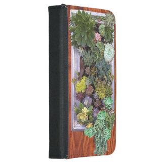 Succulent garden design wallet phone case for samsung galaxy s5