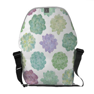 Succulent Garden Pattern Courier Bag