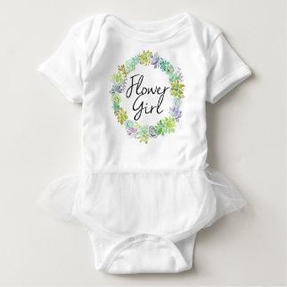 Succulent Garden | Watercolor Flower Girl Baby Bodysuit