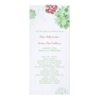 Succulent Garden Wedding Program