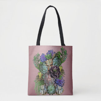 Succulent gardener tote bag
