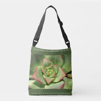 Succulent Green Cross Over Bag Tote Bag