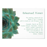Succulent Horizontal Rehearsal and Dinner Invites