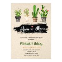 Succulent housewarming party invitation