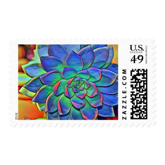 Succulent In Color Postage