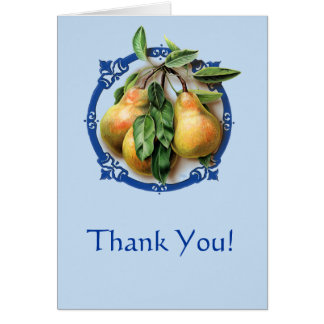 Succulent, Juicy Pears - Thanks giving notes. Card