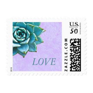 Succulent Love Watercolor Lavender Postage
