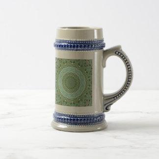Succulent Mandala Beer Stein