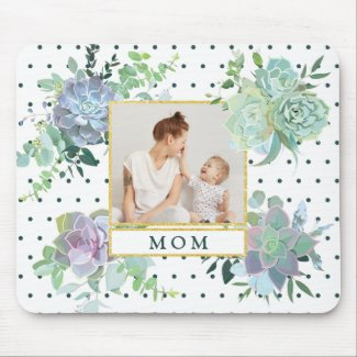 Succulent Mother's Day Mouse Pad