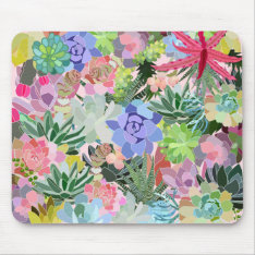 Succulent Mouse Pad at Zazzle