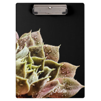 Succulent Personalized Hens and Chicks Gardner's Clipboard