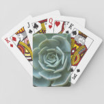 """Succulent Plant Playing Cards<br><div class=""""desc"""">Green succulent plant playing cards</div>"""