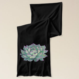 Succulent plant scarf
