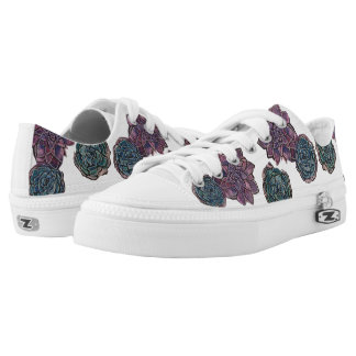 Succulent Plant Sneakers Printed Shoes