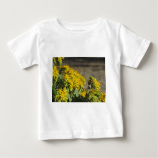 Succulent plant with yellow flowers baby T-Shirt