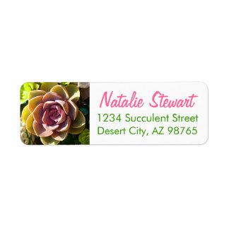 Succulent Pond by Amy Vangsgard Return Address Label