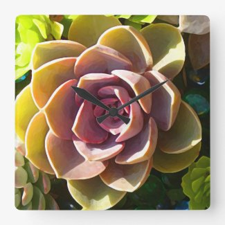 Succulent Pond Wall Clock
