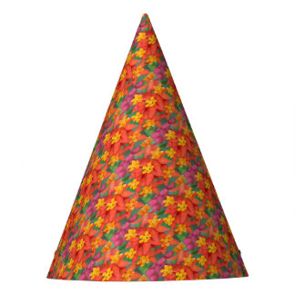 Succulent Red and Yellow Flower Echeveria Party Hat