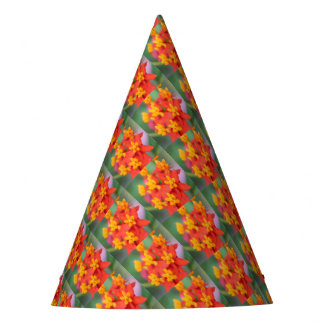 Succulent Red and Yellow Flower III Party Hat