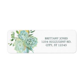 Succulent Return Address Label