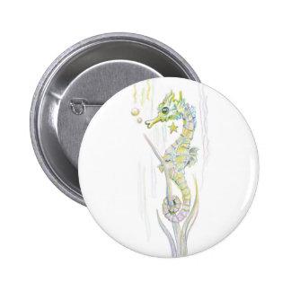Succulent Seahorse Button